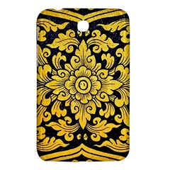 Flower Pattern In Traditional Thai Style Art Painting On Window Of The Temple Samsung Galaxy Tab 3 (7 ) P3200 Hardshell Case