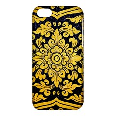 Flower Pattern In Traditional Thai Style Art Painting On Window Of The Temple Apple Iphone 5c Hardshell Case