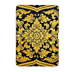 Flower Pattern In Traditional Thai Style Art Painting On Window Of The Temple Samsung Galaxy Tab 2 (10.1 ) P5100 Hardshell Case