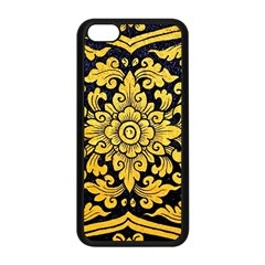 Flower Pattern In Traditional Thai Style Art Painting On Window Of The Temple Apple Iphone 5c Seamless Case (black)