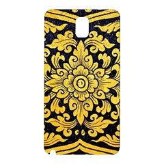 Flower Pattern In Traditional Thai Style Art Painting On Window Of The Temple Samsung Galaxy Note 3 N9005 Hardshell Back Case