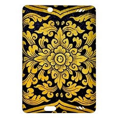 Flower Pattern In Traditional Thai Style Art Painting On Window Of The Temple Amazon Kindle Fire Hd (2013) Hardshell Case