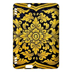Flower Pattern In Traditional Thai Style Art Painting On Window Of The Temple Kindle Fire Hdx Hardshell Case