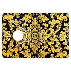 Flower Pattern In Traditional Thai Style Art Painting On Window Of The Temple Kindle Fire HDX Flip 360 Case