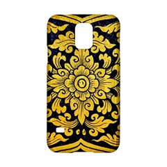 Flower Pattern In Traditional Thai Style Art Painting On Window Of The Temple Samsung Galaxy S5 Hardshell Case