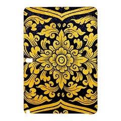 Flower Pattern In Traditional Thai Style Art Painting On Window Of The Temple Samsung Galaxy Tab Pro 10 1 Hardshell Case