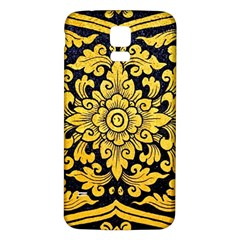 Flower Pattern In Traditional Thai Style Art Painting On Window Of The Temple Samsung Galaxy S5 Back Case (white)