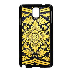 Flower Pattern In Traditional Thai Style Art Painting On Window Of The Temple Samsung Galaxy Note 3 Neo Hardshell Case (Black)