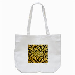 Flower Pattern In Traditional Thai Style Art Painting On Window Of The Temple Tote Bag (White)
