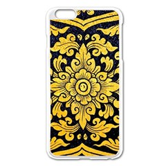 Flower Pattern In Traditional Thai Style Art Painting On Window Of The Temple Apple Iphone 6 Plus/6s Plus Enamel White Case