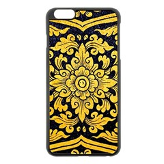 Flower Pattern In Traditional Thai Style Art Painting On Window Of The Temple Apple Iphone 6 Plus/6s Plus Black Enamel Case