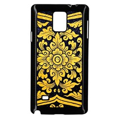 Flower Pattern In Traditional Thai Style Art Painting On Window Of The Temple Samsung Galaxy Note 4 Case (Black)