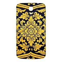 Flower Pattern In Traditional Thai Style Art Painting On Window Of The Temple Samsung Galaxy Mega I9200 Hardshell Back Case