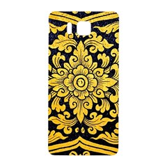 Flower Pattern In Traditional Thai Style Art Painting On Window Of The Temple Samsung Galaxy Alpha Hardshell Back Case