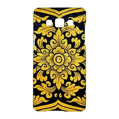 Flower Pattern In Traditional Thai Style Art Painting On Window Of The Temple Samsung Galaxy A5 Hardshell Case