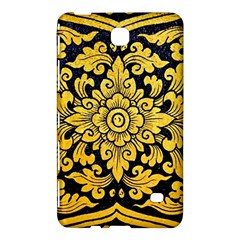 Flower Pattern In Traditional Thai Style Art Painting On Window Of The Temple Samsung Galaxy Tab 4 (7 ) Hardshell Case