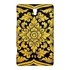 Flower Pattern In Traditional Thai Style Art Painting On Window Of The Temple Samsung Galaxy Tab S (8.4 ) Hardshell Case