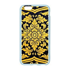 Flower Pattern In Traditional Thai Style Art Painting On Window Of The Temple Apple Seamless iPhone 6/6S Case (Color)