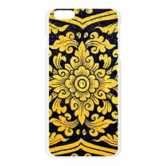 Flower Pattern In Traditional Thai Style Art Painting On Window Of The Temple Apple Seamless iPhone 6 Plus/6S Plus Case (Transparent)