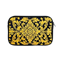 Flower Pattern In Traditional Thai Style Art Painting On Window Of The Temple Apple Macbook Pro 13  Zipper Case