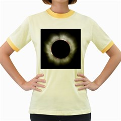 Solar Eclipse Women s Fitted Ringer T Shirts