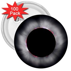 Solar Eclipse 3  Buttons (100 Pack)