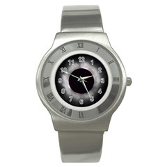 Solar Eclipse Stainless Steel Watch