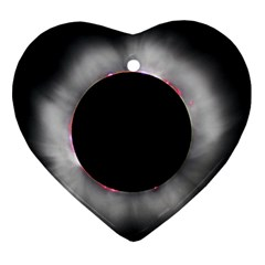 Solar Eclipse Heart Ornament (Two Sides)