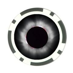 Solar Eclipse Poker Chip Card Guard
