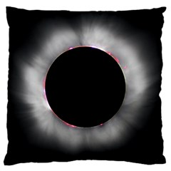 Solar Eclipse Large Cushion Case (Two Sides)