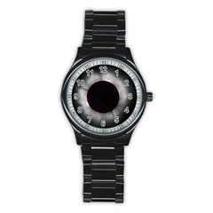 Solar Eclipse Stainless Steel Round Watch