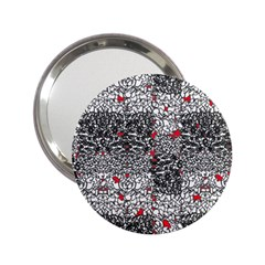 Sribble Plaid 2 25  Handbag Mirrors