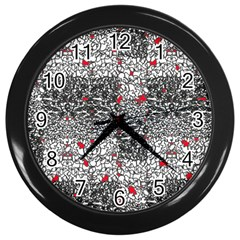 Sribble Plaid Wall Clocks (Black)