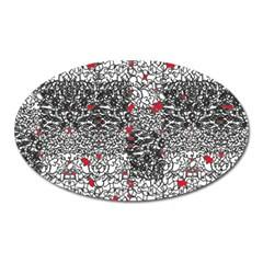 Sribble Plaid Oval Magnet