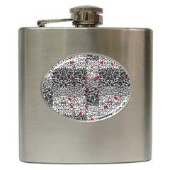 Sribble Plaid Hip Flask (6 Oz)