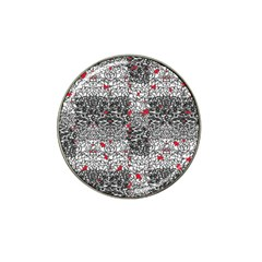 Sribble Plaid Hat Clip Ball Marker