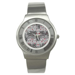 Sribble Plaid Stainless Steel Watch