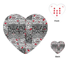 Sribble Plaid Playing Cards (heart)