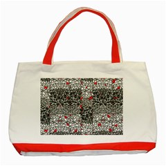 Sribble Plaid Classic Tote Bag (red)