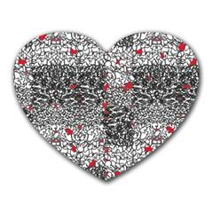 Sribble Plaid Heart Mousepads