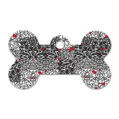 Sribble Plaid Dog Tag Bone (two Sides)