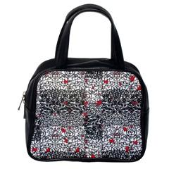Sribble Plaid Classic Handbags (one Side)