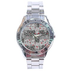 Sribble Plaid Stainless Steel Analogue Watch