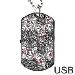 Sribble Plaid Dog Tag USB Flash (Two Sides)