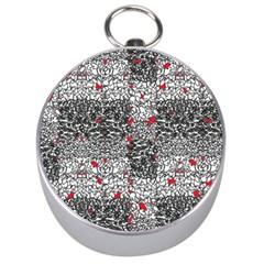 Sribble Plaid Silver Compasses