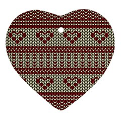 Stitched Seamless Pattern With Silhouette Of Heart Ornament (Heart)