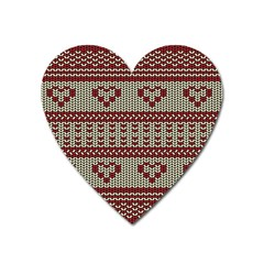 Stitched Seamless Pattern With Silhouette Of Heart Heart Magnet