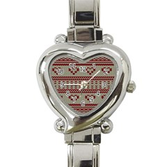 Stitched Seamless Pattern With Silhouette Of Heart Heart Italian Charm Watch