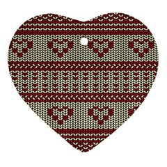 Stitched Seamless Pattern With Silhouette Of Heart Heart Ornament (Two Sides)
