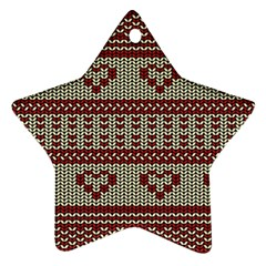 Stitched Seamless Pattern With Silhouette Of Heart Star Ornament (two Sides)